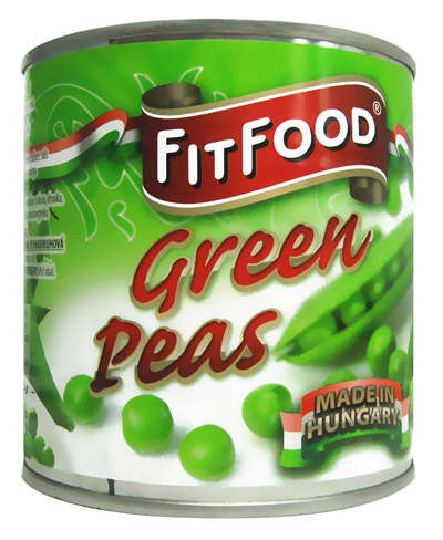 FIT FOOD green peas 400g in tin