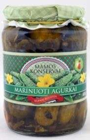 Pickled cucumbers, 675 g / MAMOS KONSERVAI