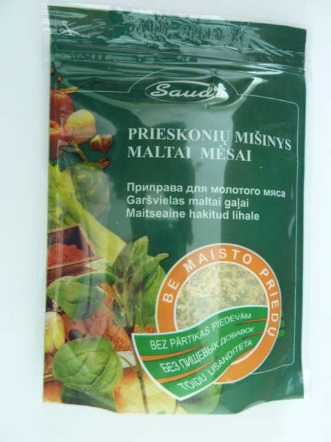 "Spice mixture  ""For mince without food additives""80g"