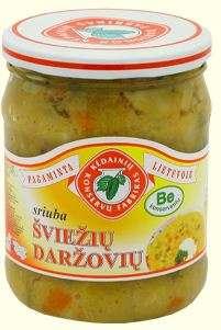 500ml fresh vegetables soup KĖDAINIŲ KONSERVAI