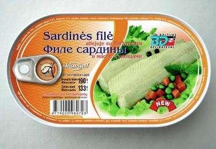 Natural Sardine Fillet with Vegetables 190g