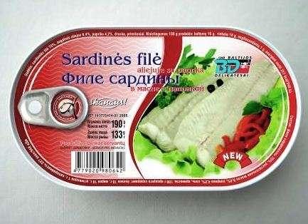 Natural Sardine Fillet with Paprika 190g