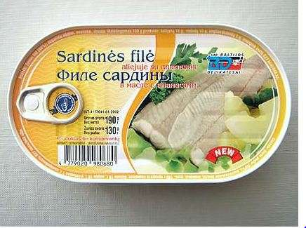Natural Sardine Fillet with Pineapple 190g
