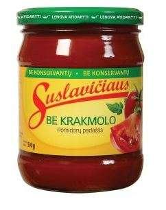 Suslavičiaus tomato sauce without starch, 500g