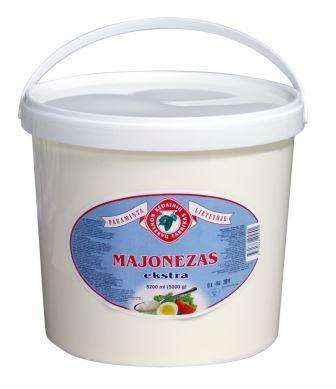 """Mayonnaise """"Extra"""", """"Kėdainių konservų fabrikas"""", 66%, 5000 g"""