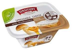 "Processed Spreadable Cheese ""Žemaitijos"" with mashrums 175g"
