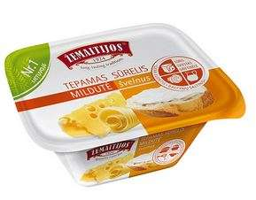"Processed Spreadable Cheese ""Žemaitijos"" natural 175g"