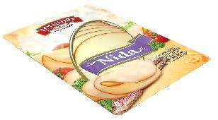 "45% Processed cheese ""Nida"", sliced 170g"