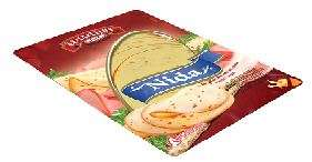 "45% Processed cheese ""Nida"", with ham sliced 170g"