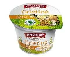 Sour cream Žemaitijos, 30% fat, 200g