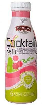 Kefir cocktail with cranberries and pears ŽEMAITIJOS 0,4 % fat, 0,45 kg