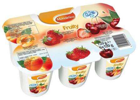 MONDELICE 0,2% 120 g /apricot, strawberry-cherry yogurt