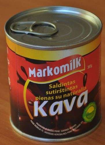 Sweetened condensed milk with coffee (with cover), 385g