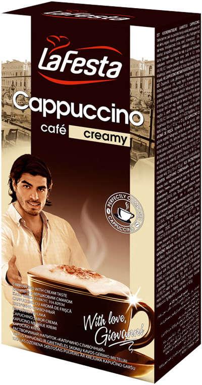 LA FESTA with cream 10*12.5g cappuccino