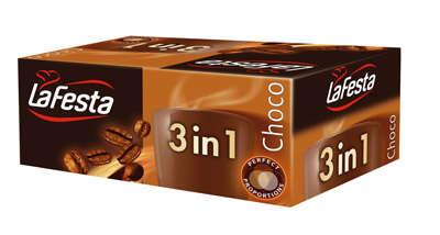 24*12,5g 3 IN 1 chocolate taste coffee drink, in box LA FESTA