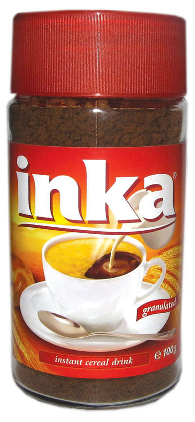 INKA 100g instant coffee granules in the glass container BIOGRAN