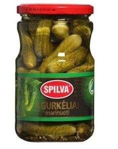 SPILVA  pickled cucumbers, 670 (370)g