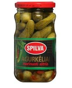 SPILVA  pickled cucumbers, spicy, 330(190)g