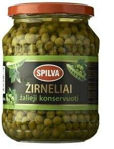 SPILVA canned peas, 690 (450g) glass