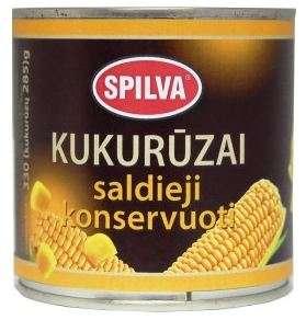 SPILVA canned sweet corn, 340 (285)g