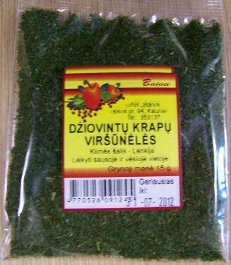 Dried dill tops 15g