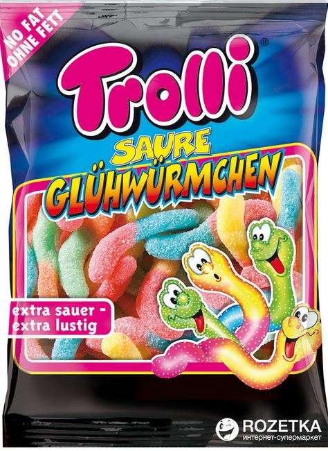 TROLLI Gum sour worms, 100g