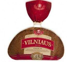 'Vilniaus ''dark rye bread, 0,5kg (sliced)