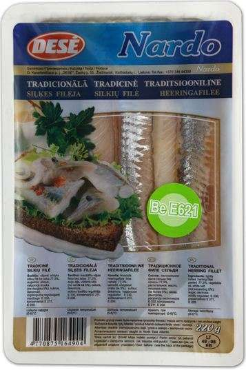 Herring fillet without skin with oil, traditional Nardo, 220g