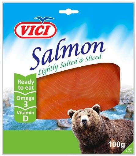 Salted salmon choped,  in vacuum  100g