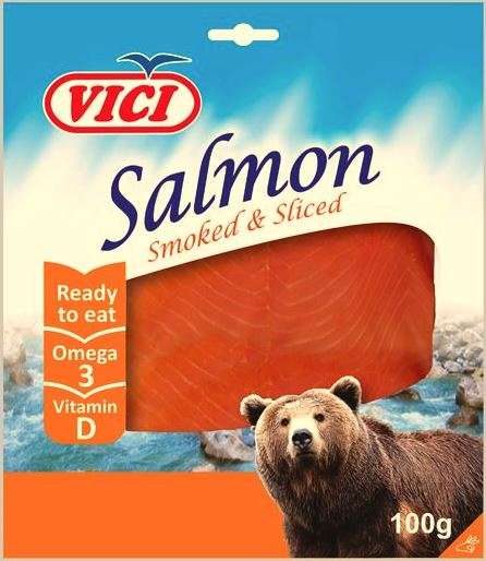 Cold smoked salmon in vacuum 100 g