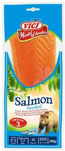 Cold smoked salmon pieces in vacuum 200 g