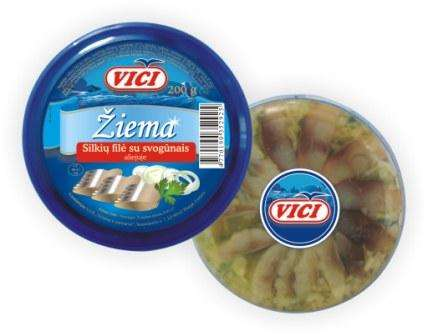 "Herring fillet with onions in oil  ""Winter"", 200 g"