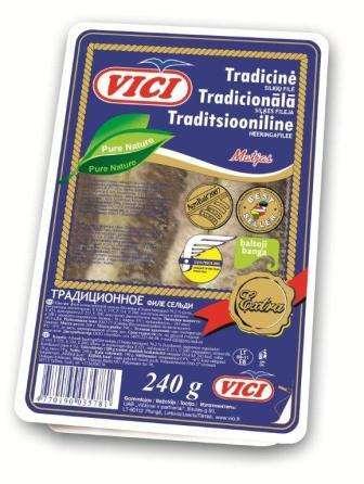 Traditional herring fillet, 240 g
