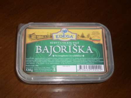 "Salted herrings fillet ""Bajoriška"" with onions 0,32kg"
