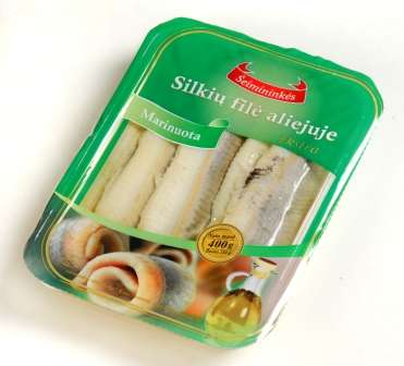 Herring fillet marinated with oil 0,54 kg
