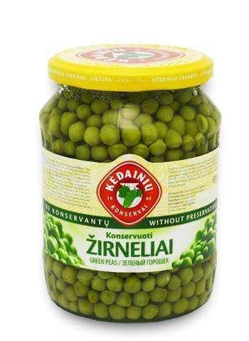 0,72l green peas KĖDAINIŲ KONSERVAI