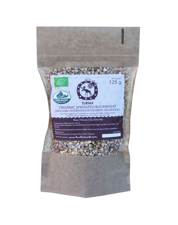Organic Sprouted and Dried Buckwheat 125g.