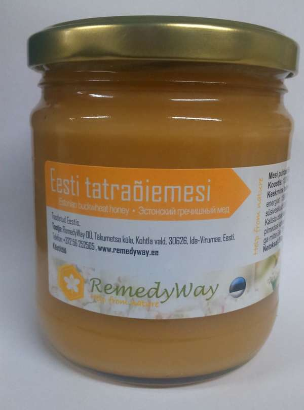 Estonian buckwheat flower honey 550 g