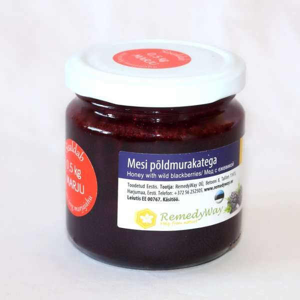 Honey with wild blackberries 250 g