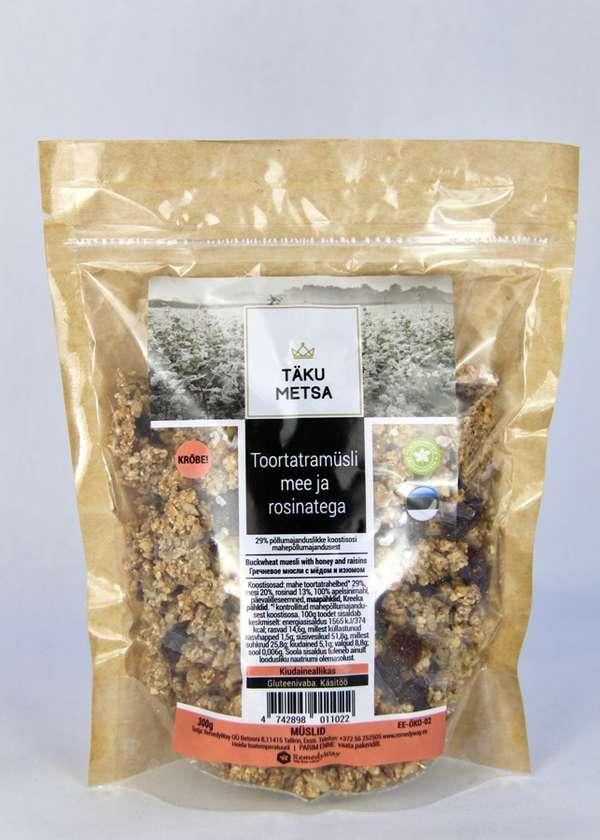 Buckwheat muesli with honey and raisins 300g