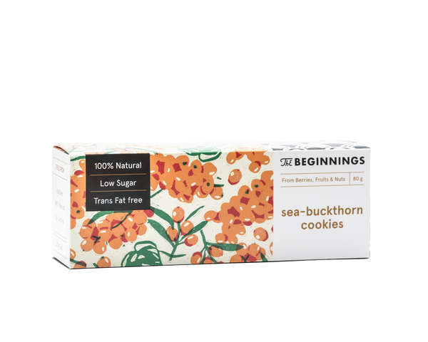 Raw Seabuckthorn cookies 80G or 35G