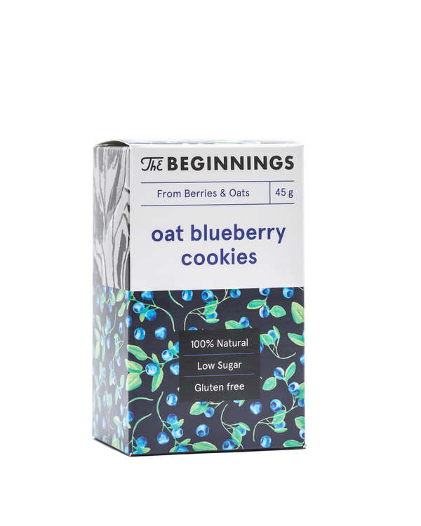 Raw Oat and Blueberry cookies 45G