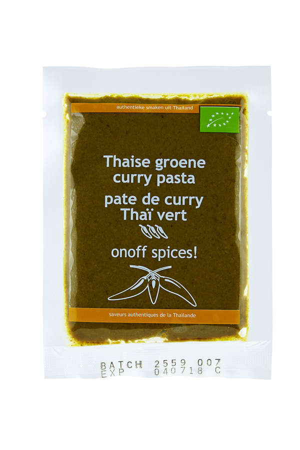 organic Thai green curry paste