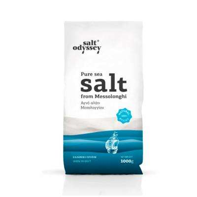 PURE FINE SEA SALT FROM GREECE (BAG)