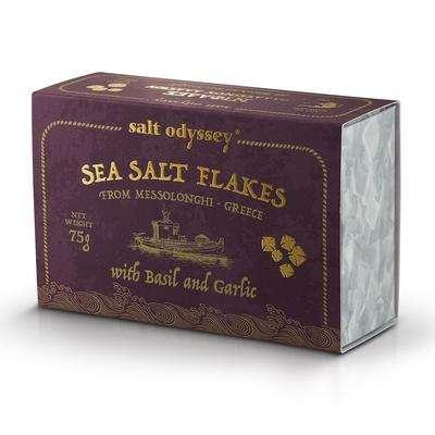 SEA SALT FLAKES BASIL & GARLIC