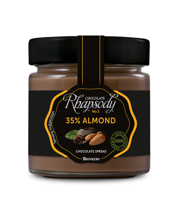 RHAPSODY ALMOND 35% CHOCOLATE SPREAD