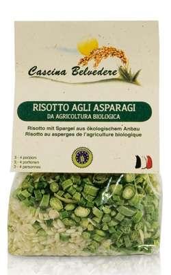 Organic asparagus risotto