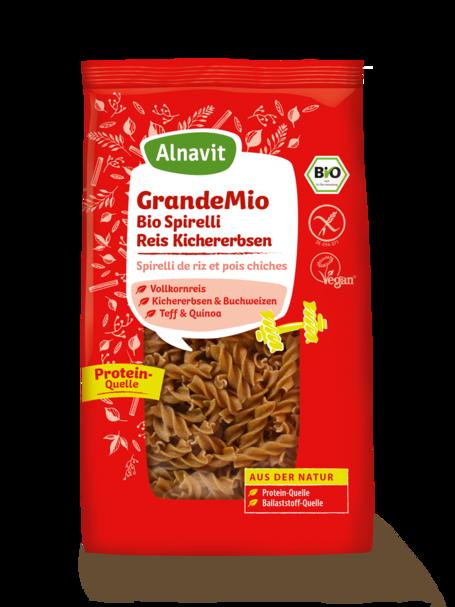 Organic Pasta Twirls with rice & chickpeas