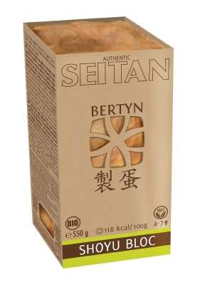 Bertyn Shoyu Protein Seitan Bloc with wheat