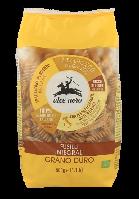 Organic whole durum wheat fusilli - 500g